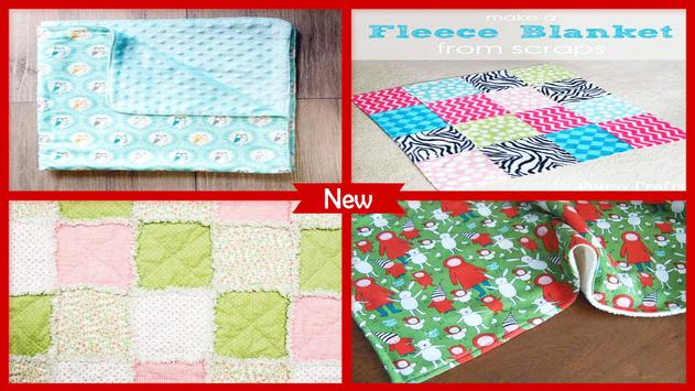 DIY Blocks Baby Blanket Craft Project poster