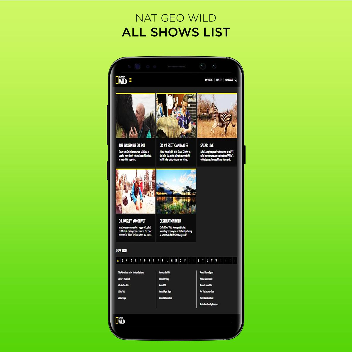 Nat Geo Wild Live - HD Channel: TV Shows & Animals for
