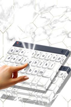 White Marble Keyboard screenshot 1