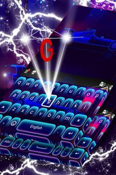 Car Keyboard Neon Theme poster