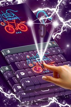 Bike Ride Keyboard Theme apk screenshot