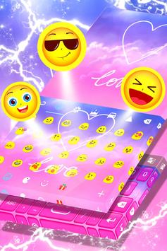 Pastel Love Keyboard Theme screenshot 3