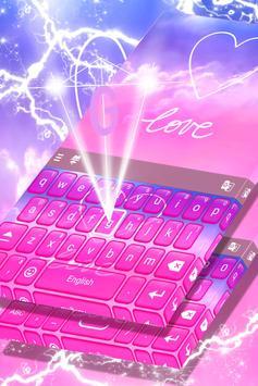 Pastel Love Keyboard Theme poster