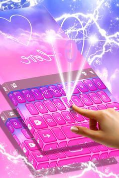 Pastel Love Keyboard Theme screenshot 2