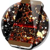 Gold Glitter Keyboard Themes icon