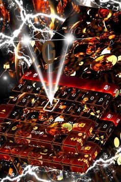 Gold Glitter Keyboard Themes poster