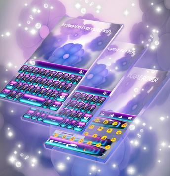 Keyboard Purple Flower screenshot 1