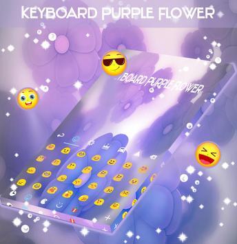 Keyboard Purple Flower screenshot 2