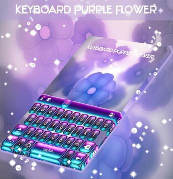 Keyboard Purple Flower screenshot 4
