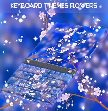 Keyboard Themes Flowers poster