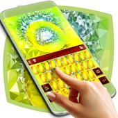 Lime Crystal Keyboard Theme icon