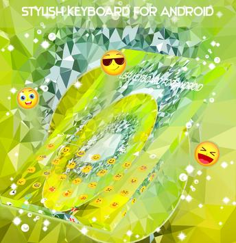 Lime Crystal Keyboard Theme screenshot 2