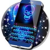 Neon Skull Keyboard icon