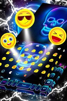 Neon Skull Keyboard screenshot 3