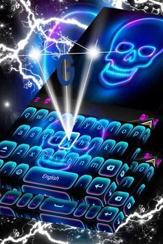 Neon Skull Keyboard poster