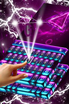 Neon Purple Keyboard Themes screenshot 1