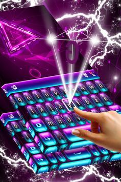 Neon Purple Keyboard Themes screenshot 2