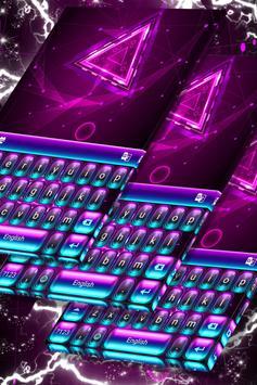Neon Purple Keyboard Themes screenshot 4