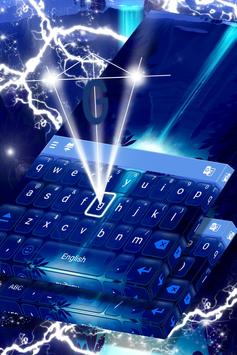 Neon Waterfall Keyboard poster