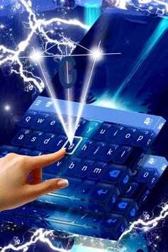 Neon Waterfall Keyboard screenshot 1