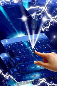Neon Waterfall Keyboard screenshot 2