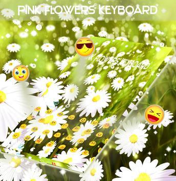 Pink Flowers Keyboard screenshot 2