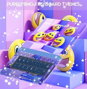 Purple Emoji Keyboard Themes screenshot 4