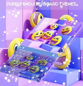 Purple Emoji Keyboard Themes screenshot 3