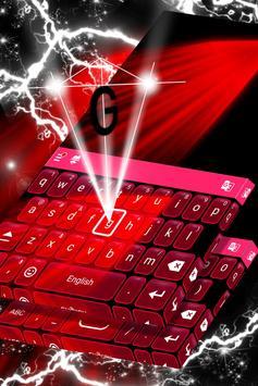 Red Blood Keyboard poster