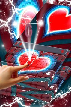 Red Heart Keyboard screenshot 1