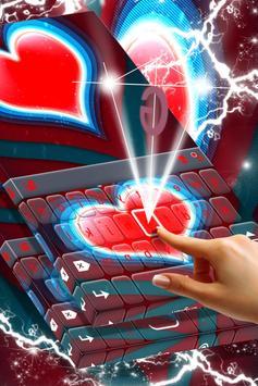 Red Heart Keyboard screenshot 2
