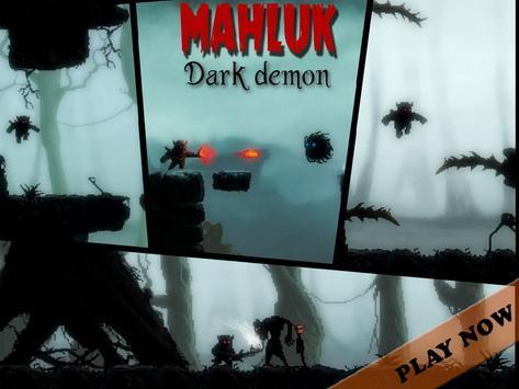 Mahluk: Dark demon - Retro horror platformer poster