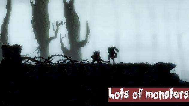 Mahluk: Dark demon - Retro horror platformer apk screenshot