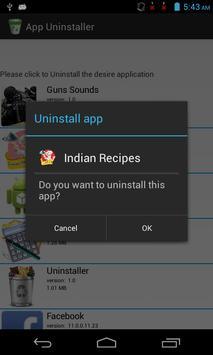 App Uninstaller apk screenshot