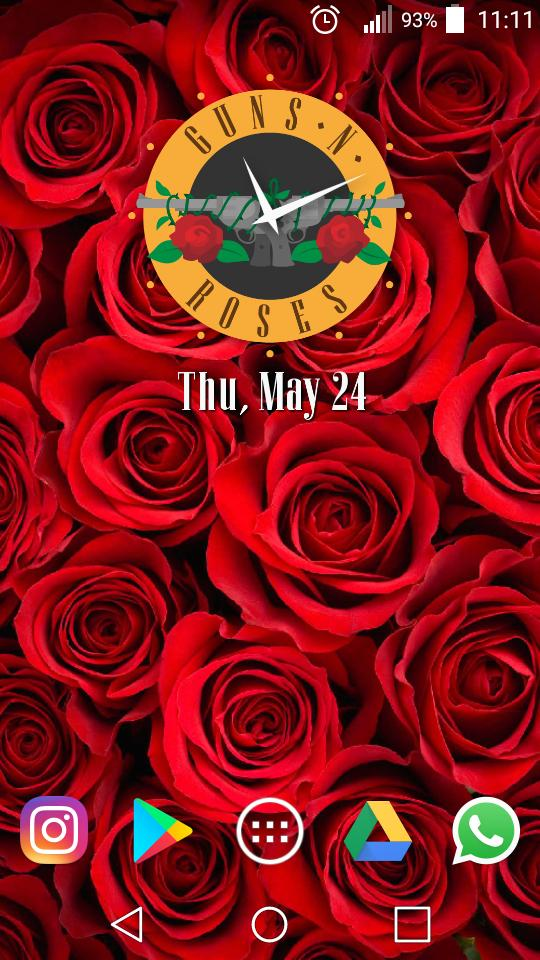 Guns N Roses Clock Widget And Wallpapers Para Android Apk