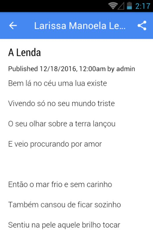 79dde1466fe69 Larissa Manoela Musica Letras for Android - APK Download