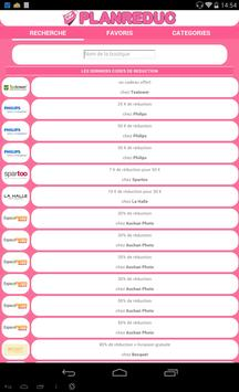 Plan Reduc Codes Promo Gratuit apk screenshot