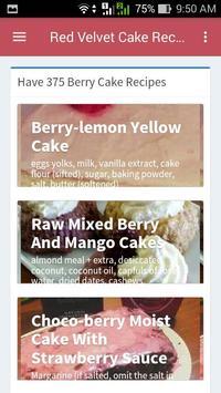 Red Velvet Cake Recipes apk screenshot