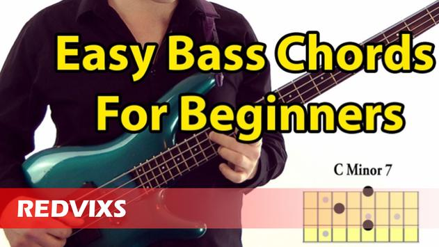 Bass Guitar Chords poster