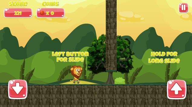jungle lion run poster