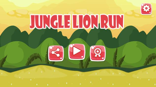 jungle lion run apk screenshot