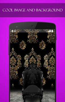 Gold Black wallpaper screenshot 1