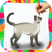 How to Draw Cat icon