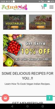 ReFreshMall Online App Fresh Fruits & Vegetables. poster