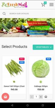 ReFreshMall Online App Fresh Fruits & Vegetables. screenshot 1