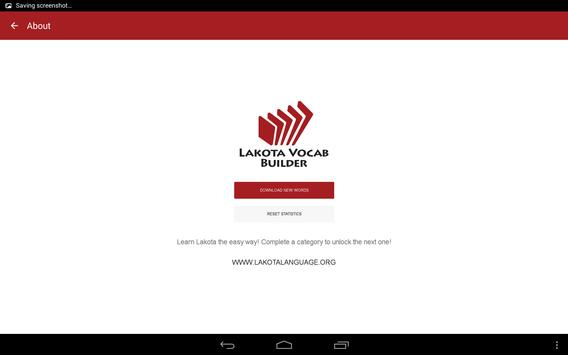 Lakota Vocab Builder apk screenshot