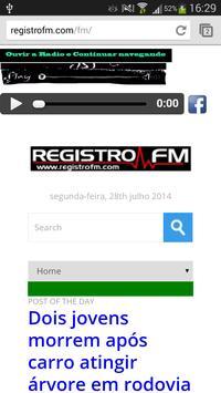 Rádio Registro FM apk screenshot