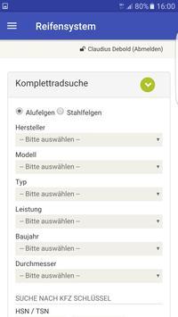 Reifensystem screenshot 5