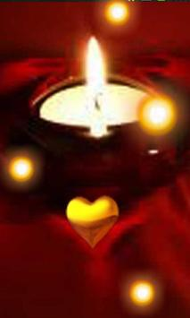 Love Candles live wallpaper poster