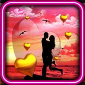 Love Sunset HD live wallpaper icon
